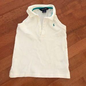Ralph Lauren white sleeveless shirt. size kids 5.